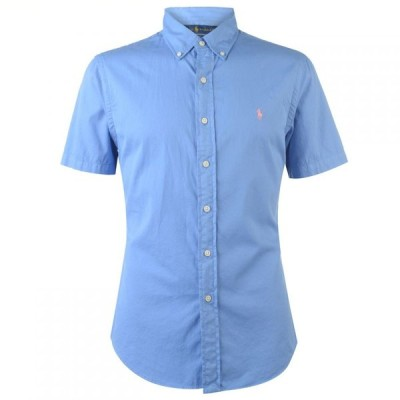 ラルフ ローレン POLO RALPH LAUREN メンズ 半袖シャツ トップス Short Sleeved Chino Shirt Harbour Blue