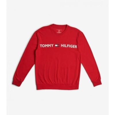 トミー ヒルフィガー Tommy メンズ 長袖Tシャツ トップス modern essentials long sleeve tee MAHOGANY