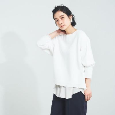 カリテ qualite 【WEB・一部店舗限定】ドルマンニットプルオーバー (ホワイト)