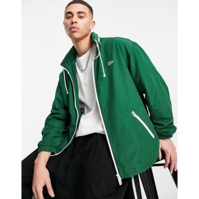 ラコステ Lacoste メンズ ジャケット アウター Classic Jacket With Concealed Hood In Green グリーン