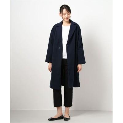 realize / 【Bs】【it】【KURO クロ】PILLING DENIM COAT WOMEN ジャケット/アウター > チェスターコート