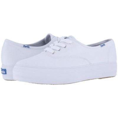 ケッズ Keds レディース スニーカー シューズ・靴 Triple Core White Canvas