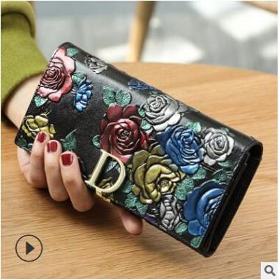 財布レディース💗女の子 韓国ファッション 長財布 二つ折り 小銭入れ 高級 レザー ラウンドファスナ💛送料無料💛最安値挑戦中💛SALE中💗高級感あふれるデザインが特徴