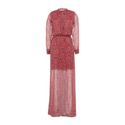 ANIMAGEMELLA ロングワンピース&ドレス 赤茶色 S ポリエステル 100% ロングワンピース&ドレス