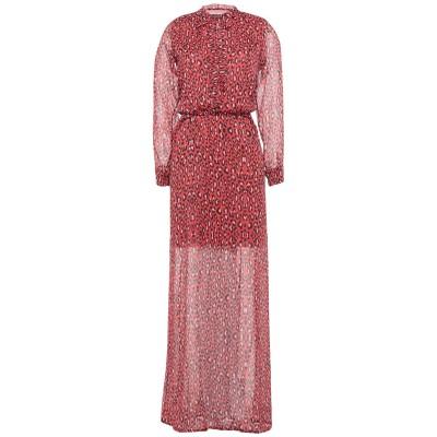 ANIMAGEMELLA ロングワンピース&ドレス 赤茶色 M ポリエステル 100% ロングワンピース&ドレス