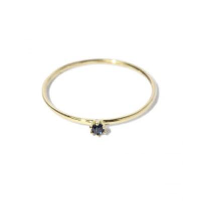 SATOMI KAWAKITA JEWELRY / R1601S 18K Yellow Gold Black Sapphire Ring