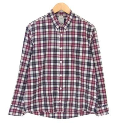 VISVIM ビズビム チェック コットン ロングスリーブ 薄型 長袖 シャツ レッド系 S【中古】