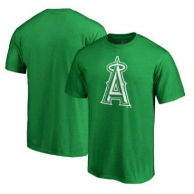 Majestic マジェスティック スポーツ用品  Majestic Los Angeles Angels Kelly Green St. Patricks Day White Logo T-Shirt