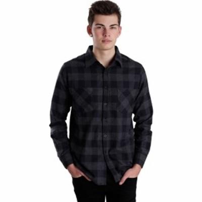 アーバンクラシックス Urban Classics メンズ シャツ トップス - Checked Flanell Black/Charcoal - Shirt grey