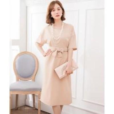 DRESS STAR(ドレス スター)2WAYウエストリボンワンピースドレス【お取り寄せ商品】