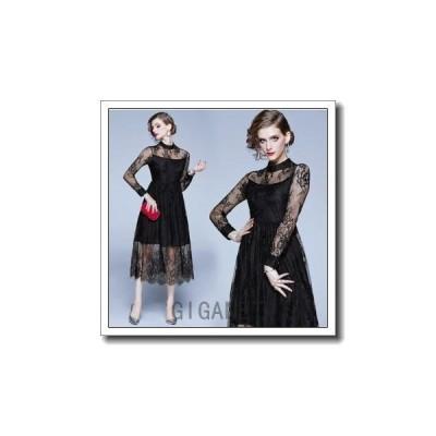 パーティードレス結婚式ドレスワンピース服上品ウェディングドレス二次会体型カバーミモレ丈演奏会用エンパイア着痩せミセス20代30代40代