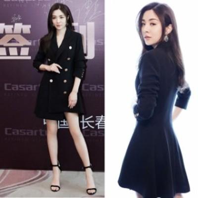 ミニドレス パーティードレス ミニ ドレス ワンピース 袖付き 長袖 ブラックドレス 襟付き 大きいサイズ 小さいサイズ