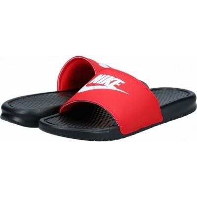 ナイキ Nike メンズ サンダル シューズ・靴 Benassi JDI Slide Black/White/University Red