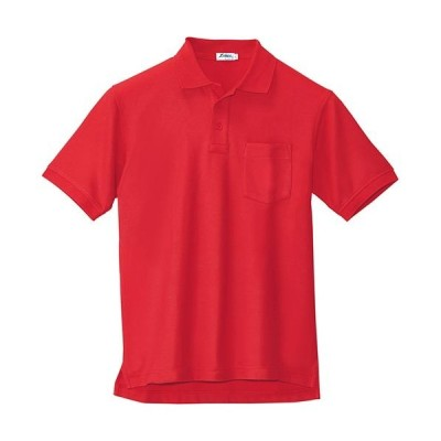 ジーベック(XEBEC) 半袖ポロシャツ 大きいサイズ 71/レッド 3Lサイズ 6170 作業服 作業着 ワークウエア ワークウェア メンズ