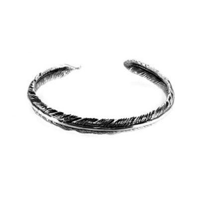 フェザー バングル 羽根 ネイティブ ブレスレット バングル 腕輪 シルバー925 銀 シルバーアクセサリー メンズ