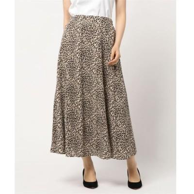 スカート ポプリン レオパード柄 マーメードスカート