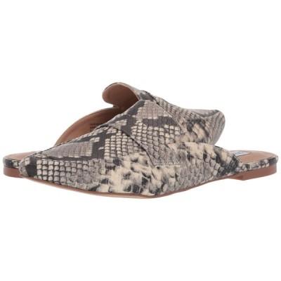 スティーブ マデン Steve Madden レディース スリッポン・フラット シューズ・靴 Flavor Flat Mule Natural Snake
