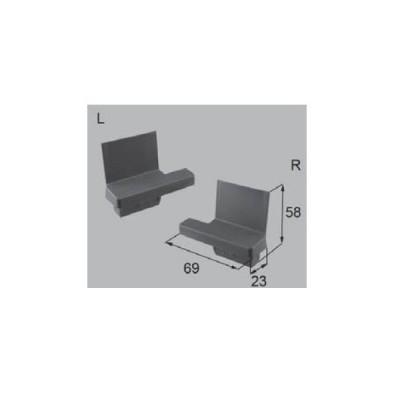 LIXIL新日軽ビル部品 キャップ・カバー類:プルバーキャップ ( テラス・上下 ) ホワージュ(B8CY1843)