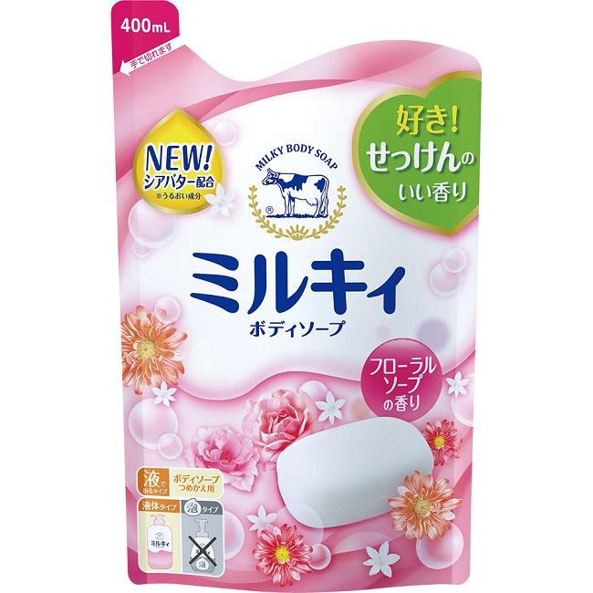 牛乳石鹼 牛乳精華沐浴乳補充包(玫瑰花香)