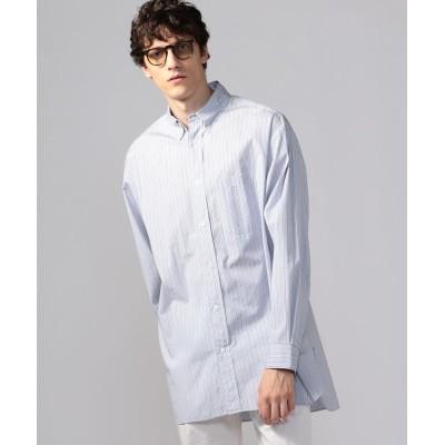 (TOMORROWLAND MENS/トゥモローランド メンズ)ブリティッシュポプリン オーバーサイズ ボタンダウンシャツ THOMAS MASON ARCHIVE FIT/メンズ 16グレー系