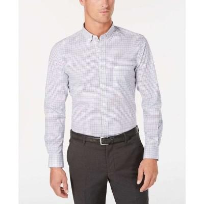 クラブルーム Club Room メンズ シャツ トップス Micro-Windowpane Performance Shirt Bright White