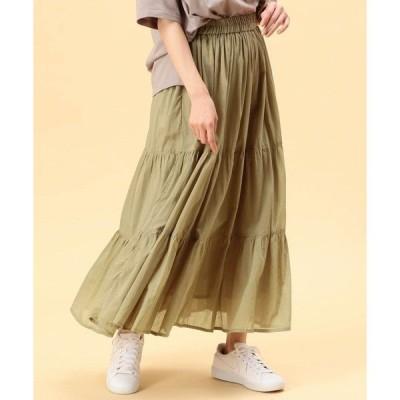 スカート ティアードロングスカート