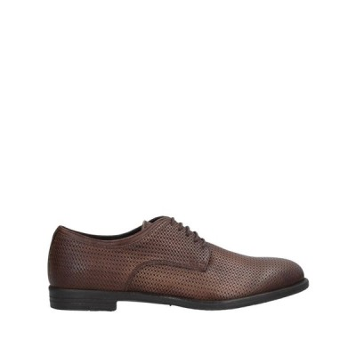 アンジェロ ナルデッリ ANGELO NARDELLI メンズ シューズ・靴 laced shoes Dark brown