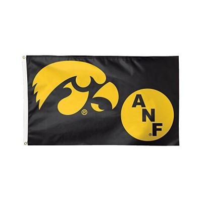 NCAA Iowa Hawkeyes ANF国旗デラックス、3?x 5フィート