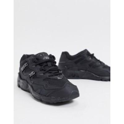 ニューバランス レディース スニーカー シューズ New Balance 850 chain metallic sneakers in black Black