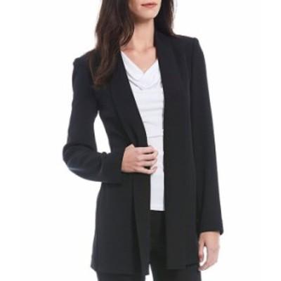 カルバンクライン レディース ジャケット・ブルゾン アウター Soft Suiting Stretch Open-Front Jacket Black