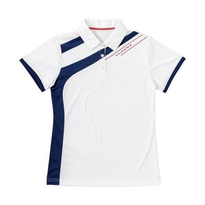 ルーセント(lucent) レディース ゲームシャツ(ホワイト) XLP-4890 M