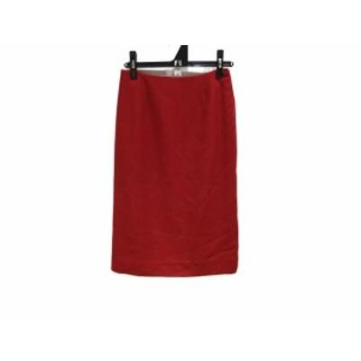 エムズグレイシー M'S GRACY ロングスカート サイズ38 M レディース 美品 - レッド【中古】20201217