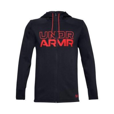 【倍倍ストア】(取寄)アンダーアーマー メンズ ベースライン フリース F/Z パーカー フーディ UNDER ARMOUR Men's Baseline Fleece F/Z Hoodie Blac 倍々ストア