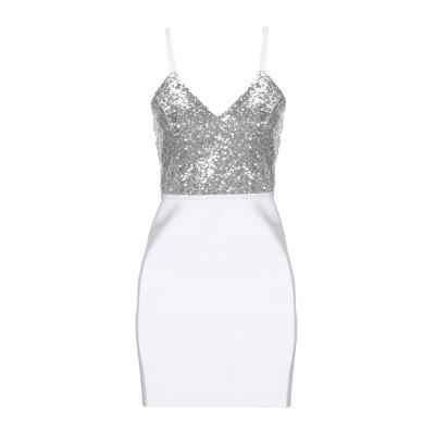 MANGANO ミニワンピース&ドレス ホワイト M ポリエステル 90% / ポリウレタン 10% ミニワンピース&ドレス