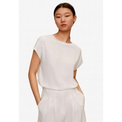マンゴ Mango レディース Tシャツ トップス Flowy T-Shirt Natural White