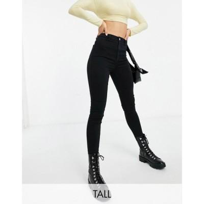 ミスガイデッド Missguided Tall レディース ジーンズ・デニム スキニー ボトムス・パンツ vice skinny jean with belt loops in black ブラック
