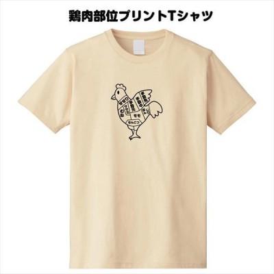 鶏肉部位プリントTシャツ