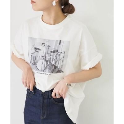 tシャツ Tシャツ フォト&バックプリントコットンTシャツ