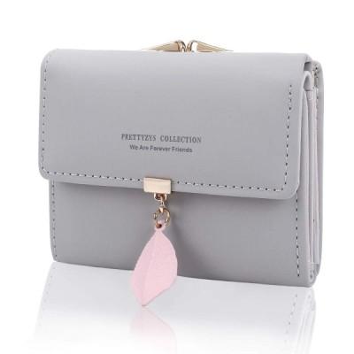 ミニ財布 レディース 人気 - KQueenstar 小さい 三つ折り 財布 がま口 カワイイ レザー コンパクト ハート ウォレット カード小銭入れ 女性用 プレゼント 7カラ