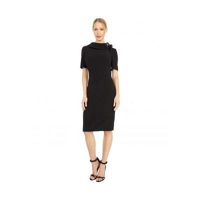 Badgley Mischka バッジリーミシュカ レディース 女性用 ファッション ドレス Tie Neck Dress - Black