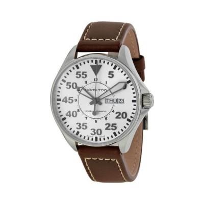 腕時計 ハミルトン Hamilton カーキ King Pilot シルバー ダイヤル オートマチック メンズ 腕時計 H64425555