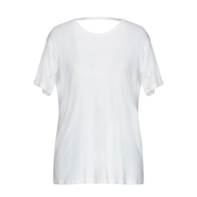 セミクチュール SEMICOUTURE T シャツ ホワイト M コットン 100% T シャツ