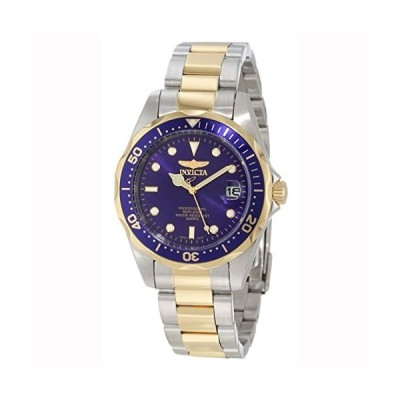 [インビクタ]Invicta 腕時計 Pro Diver メンズ 石英 37.5mm ケース スチール ゴールド ステンレス鋼ストラップ 青ダイ?