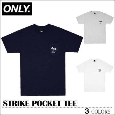 オンリーニューヨーク Tシャツ ゆうパケット送料無料 ONLY NY ネイビー ホワイト STRIKE POCKET TEE 半袖 メンズ レディース