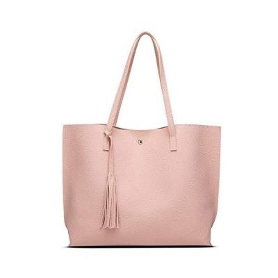 SSYongxia Women Tote Bags Top Handle Satchel Handbags PU Pebbled Leather Shoulder Purse Pink