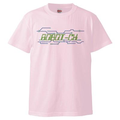 ROBOT-CH_a(5.6オンス ハイクオリティー Tシャツ)(カラー : ライトピンク, サイズ : L)