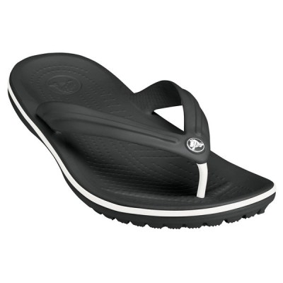 クロックス サンダル シューズ レディース Crocs Adult Crocband Flip Flops Black