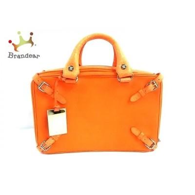セリーヌ CELINE ハンドバッグ - オレンジ 型押し加工 レザー     スペシャル特価 20200713
