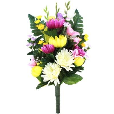 菊の花束 一本 CT触媒 シルクフラワー 造花 仏花 お彼岸 お盆 お仏壇 仏花