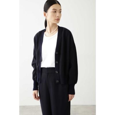 ◆≪Japan couture≫強縮ライト天竺カーディガン ネイビー